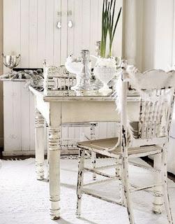 escritorio de madera blanca antiguo decoración