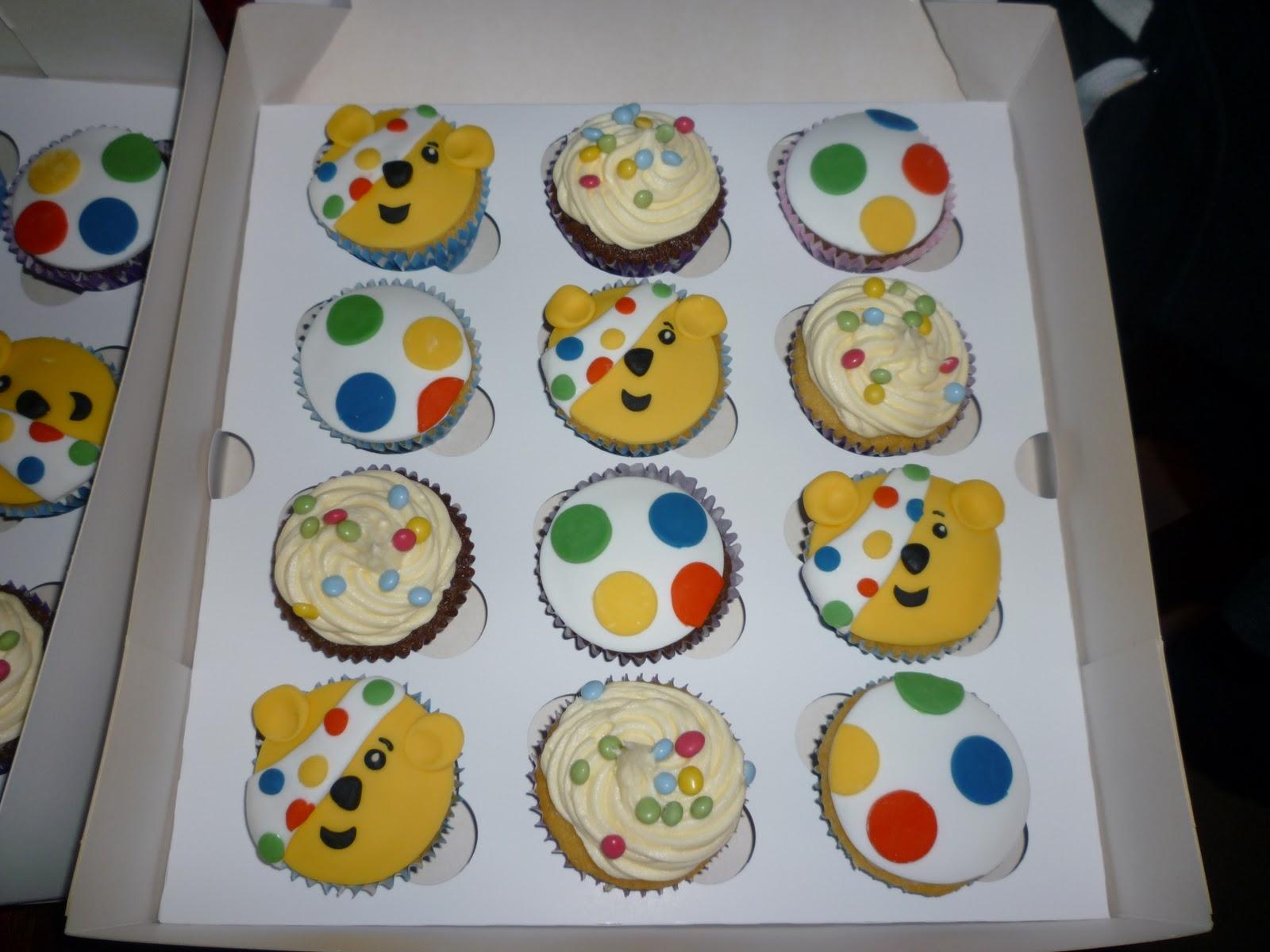 Sweetart and Scraps: Pudsey Bear Cupcakes