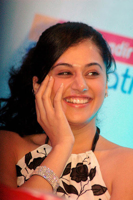 tapsee in white skin at kalamandir foundation latest photos