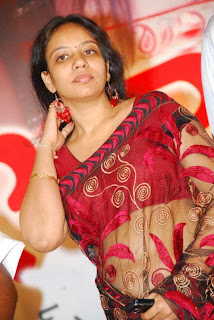 Music Director Mm Srilekha   in Red Saree Photo Gallery