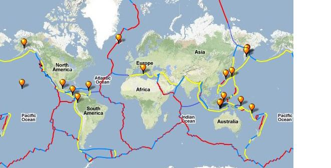 Geology Around The World Volcanes Del Mundo