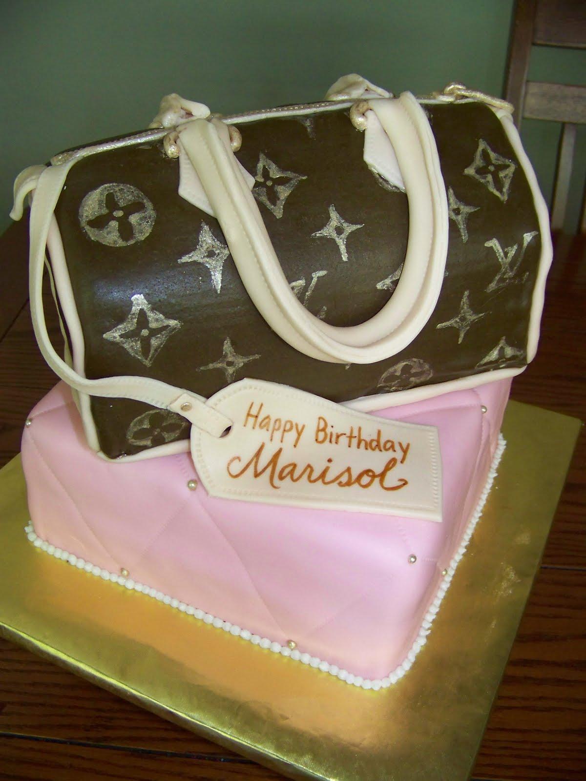 Plumeria Cake Studio Louis Vuitton Purse Cake 2