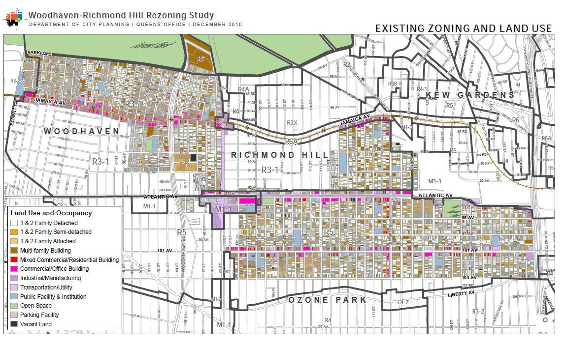 Richmond Hill Zoning Map Lost in the Ozone: Community Board 9 Meeting on City Planning