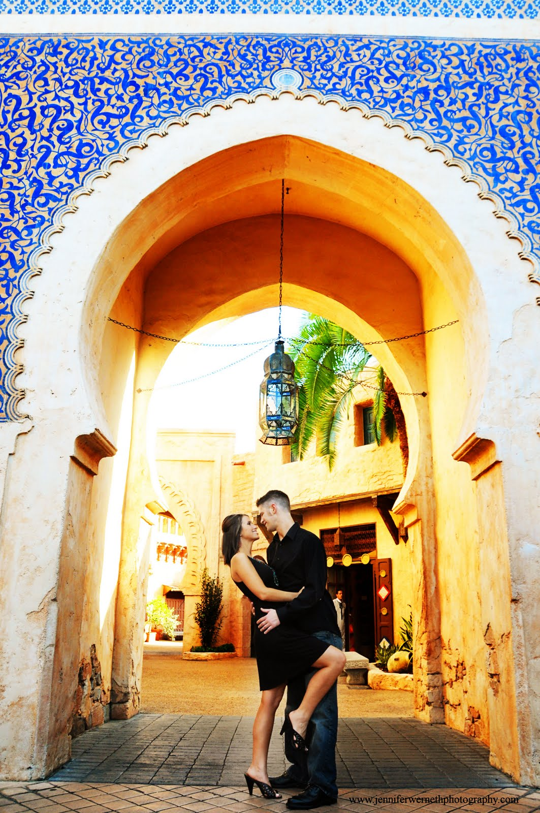 Engagement Photography at Disney's Epcot and Boardwalk