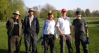 England A - From l-r Chris Jones, Gareth Holmes, Alan Norman, Richard Gottfried, Nick Chitty