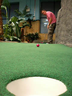Richard Gottfried at the 2008 Adventure Island Mini Golf League held at Star City in Birmingham. Photo by the Mystery Player