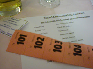 Thanet Ladies Auxiliary Quiz Night in Margate, Kent