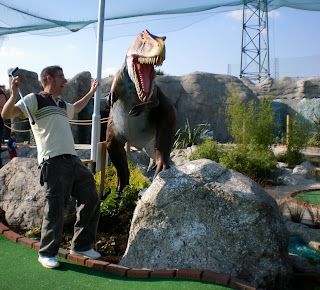 The Jurassic Encounter Adventure Golf course in New Malden