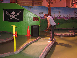 Miniature golf at Pike's Pass at the Circus Circus Hotel & Casino in Las Vegas.