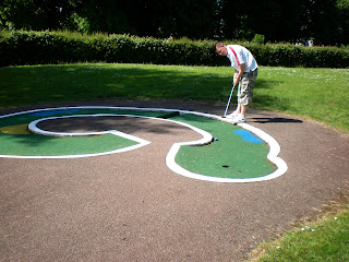 Crazy Golf course at Gadebridge Park in Hemel Hempstead, Hertfordshire