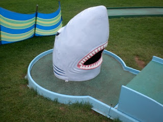 Crazy Golf in Pendine Sands, Wales