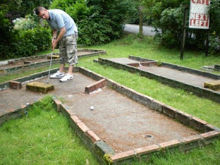 Crazy Golf at Henllan Station on the Teifi Valley Railway