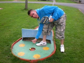 Crazy Golf at the Penrhos Golf & Country Club in Llanrhystud, Wales