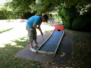 Novelty Crazy Golf in Lake Meadows Park, Billericay, Essex