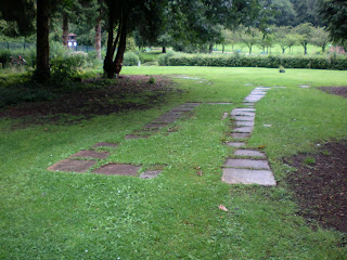 Signs of where the Minigolf course once sat in Pontypool Park