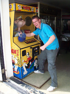 Popeye Arm Wrestling in Camber Sands