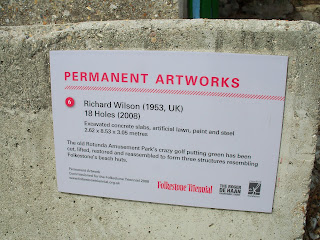 Details of the Mini Golf Permanent Artwork of '18 Holes' by Richard Wilson