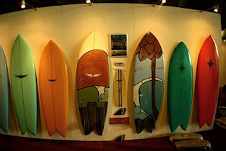 Art on surfboards