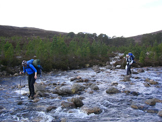 Crossing the river - Highlands Walk