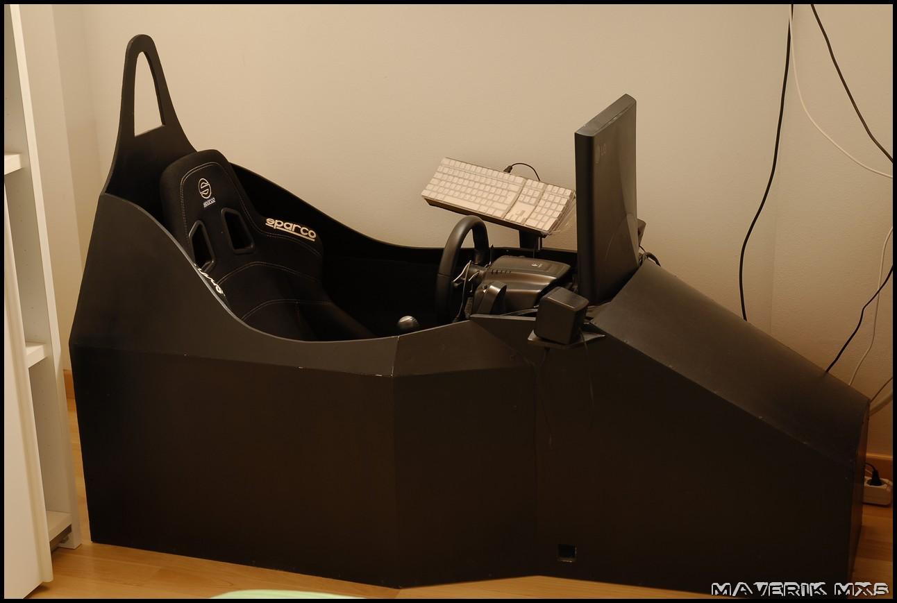 Racing Simulator Chair Plans Swivel Red Maverik Corner Mx5 My Diy Simulation Cockpit