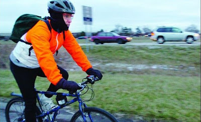 Image of winter bicyclist