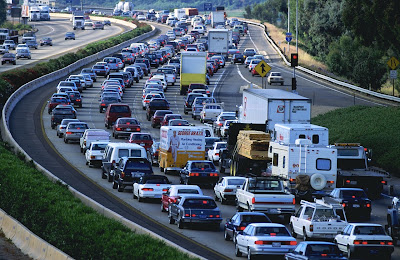 Image of traffic jam on highway
