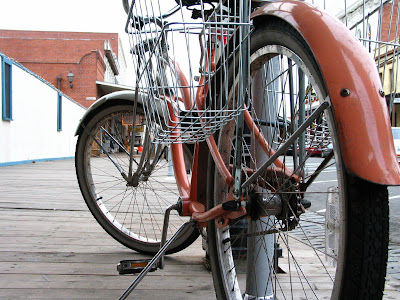 Image of cool bike in Old Sacramento