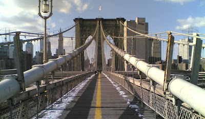 Image of Brooklyn Bridge bike lane