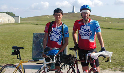 Image of bicyclists at Wright-Patterson Air Force Base