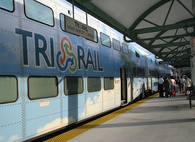 Image of Tri-Rail train car in Florida