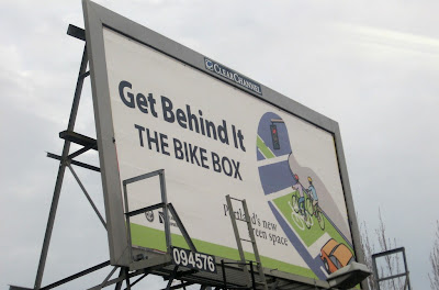 Image of Bike Box billboard in Portland, OR