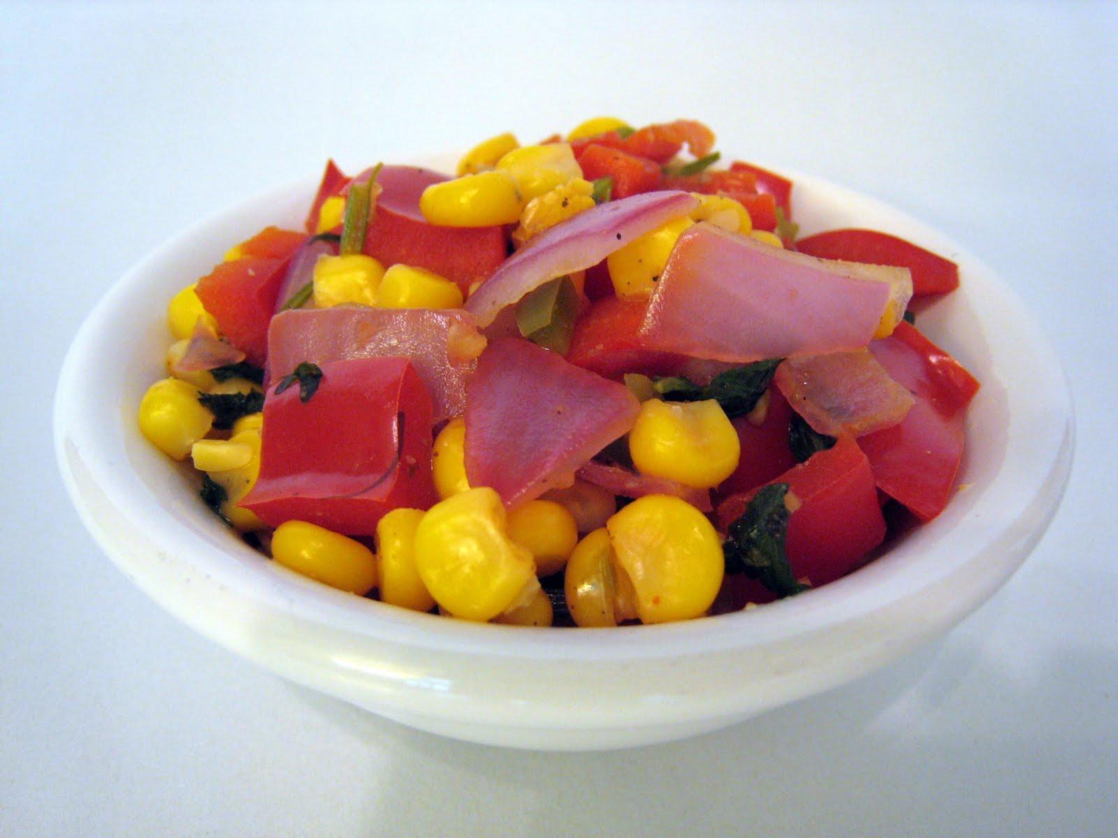 warm corn salsa