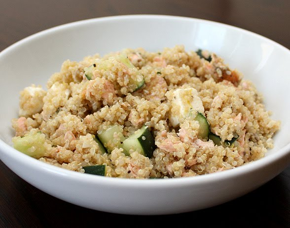 quinoa salmon feta dill