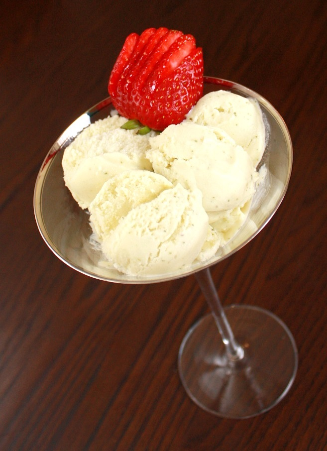 low fat basil ice cream