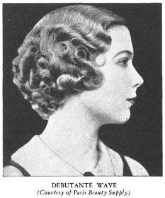 scrapbook. finger wave. 1920s-30s