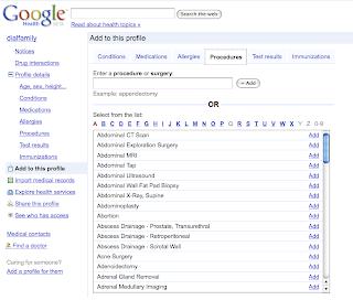 Google Health Screen Capture