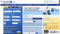Continental Airlines Website Screen Save