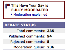 Fully Moderated BBC Blog
