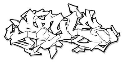 Graffiti Alphabet Stencils Design Black And White