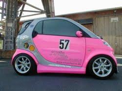 Car Spotds Pink Smart Car