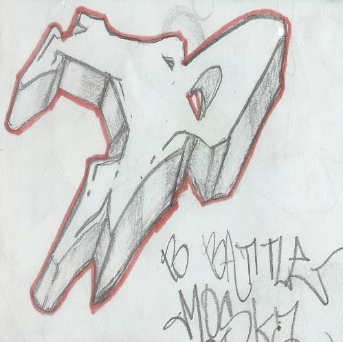 New Grafity Art Image: Sketches Graffiti Alphabet B