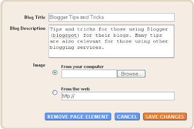 New Blogger configure Header