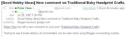 Blogger commenting system: Get email address of commentator