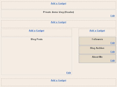 Blogger layout with extra add a gadget