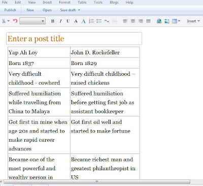 Window Live Writer Insert table in EDIT mode