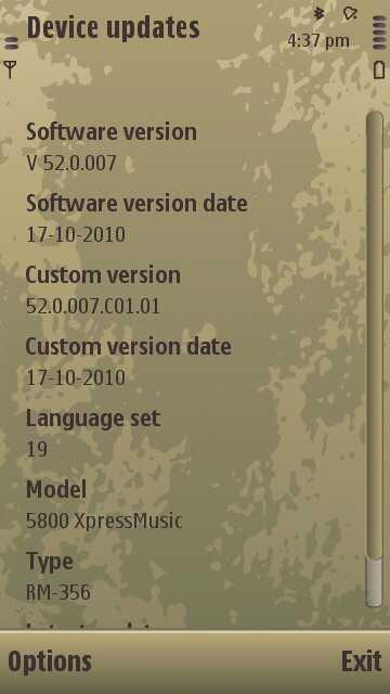 nokia 5800 music player update 15.2