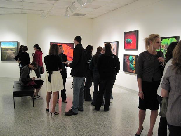 Coburn Opening Reception Pics Senior Art