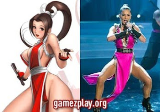 cheryl cole and Mai Shiranuis images side by side