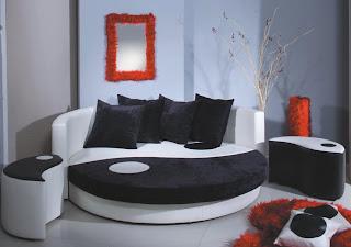 магазин мебели. круглая диван кровать.
