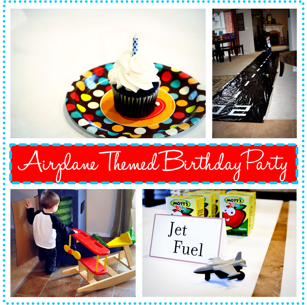 Airplane Themed Birthday Party Decorations